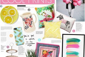 Summer home decor : Cool Prints