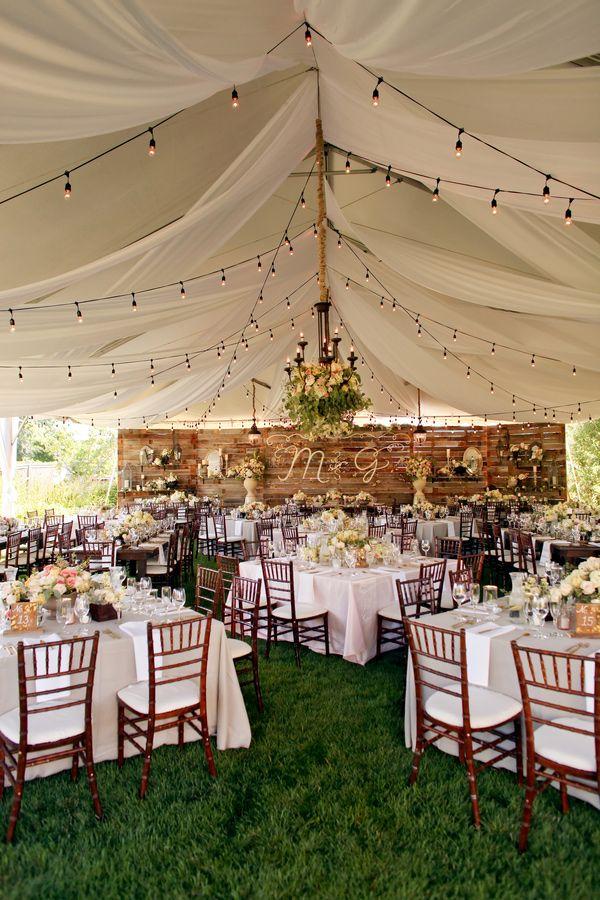Wedding Reception Ideasbackyard Receptionblack Tie Affair Receptionwedding