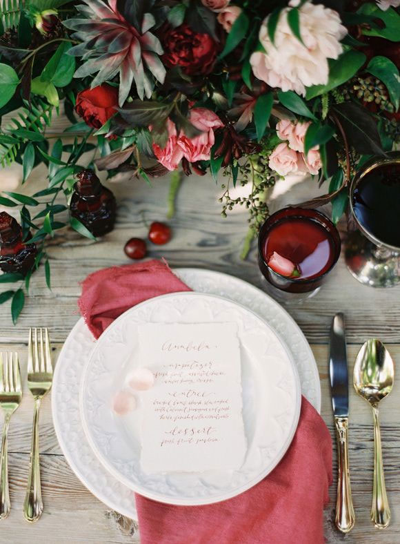 autumn wedding table setting | Lani Elias Fine Art Photography