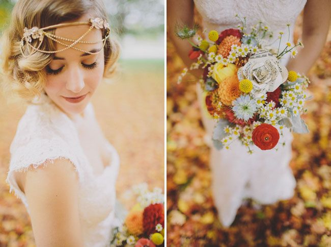 Autumn bride,Autumn wedding bouquet