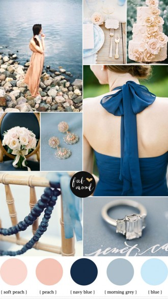 Blue Grey Navy Blue and Peach Wedding,navy blue peach wedding,blue and peach wedding colours,wedding palette,grey navy blue wedding,grey and peach wedding
