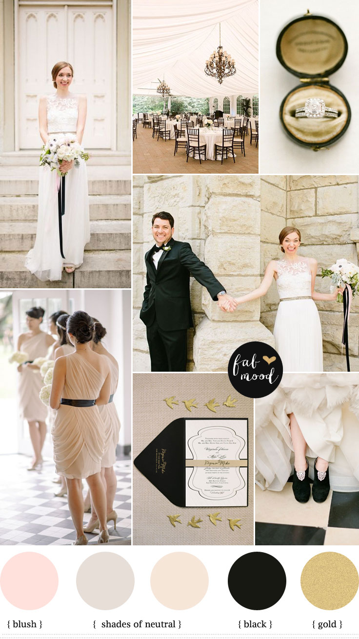 City Wedding Neutral And Black Wedding Colours Palette