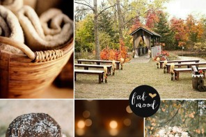 Burnt Orange Chocolate Brown Wedding
