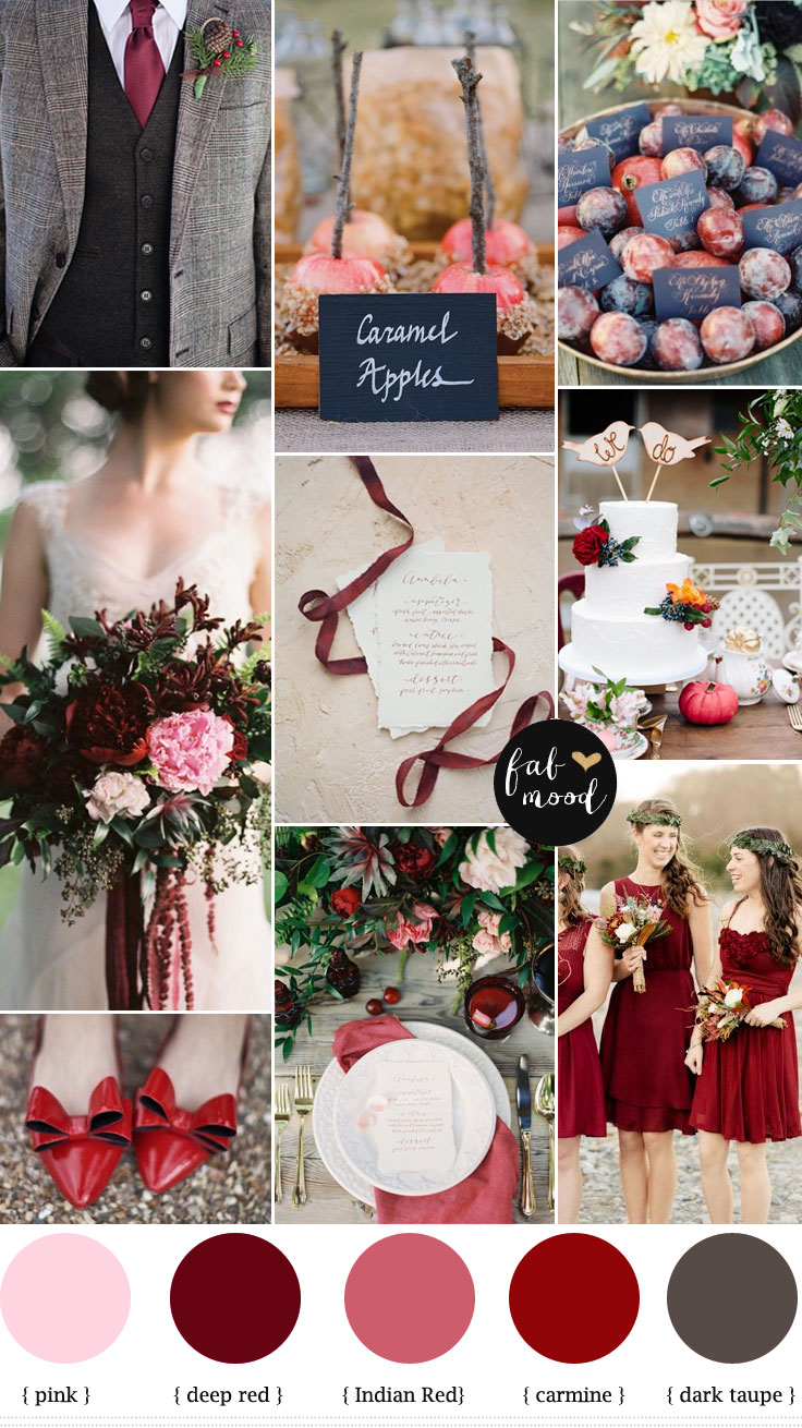 Autumn Wedding Colors Carmine Color Red