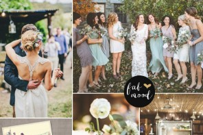 Grayed Jade Vintage Wedding