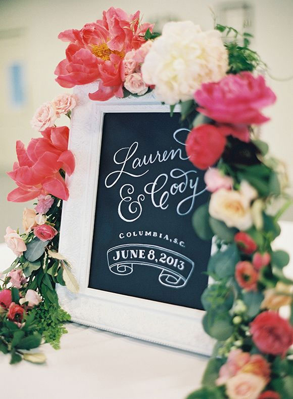 wedding signs,wedding welcome sign,wedding details,Garden Wedding Ideas: Coral and Raspberry Wedding Colours Palette,coral wedding palette,raspberry wedding color,Spring wedding colors ideas,coral wedding color