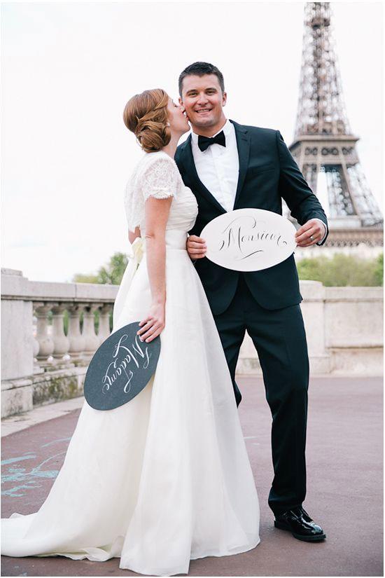 Eiffel Tower Paris Wedding Invitations - French Wedding - Destination Wedding