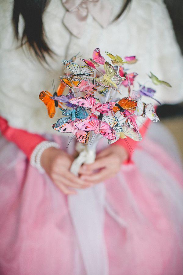 butterfly wedding bouquet