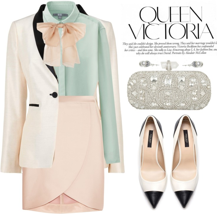 Pastel Elegance : Working Fashion Style