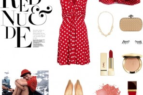 Red Retro Wedding Guest Ideas