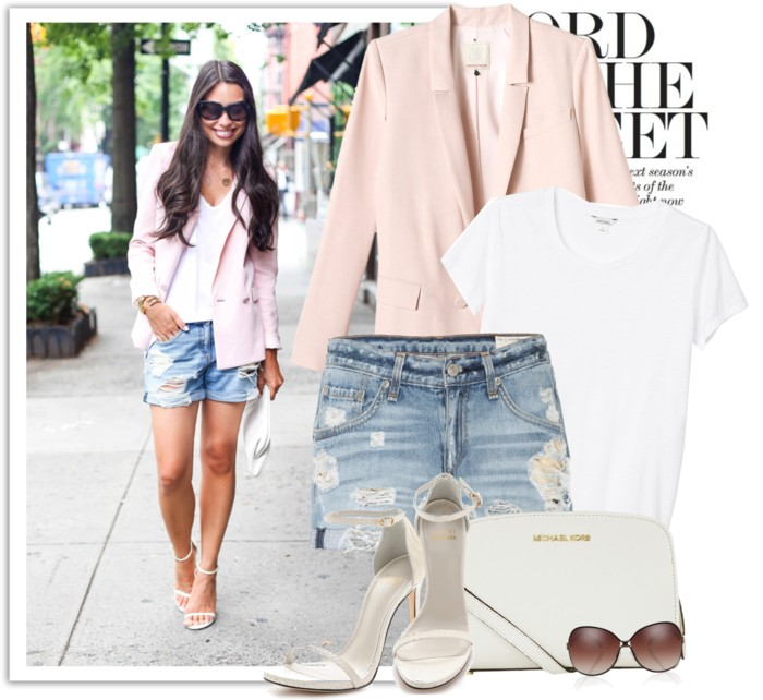 Casual on heels,Pink jacket and shorts,short denim shorts,denim short shorts and heels,short denim,weekend style ideas,weekend style fashion, inspiration