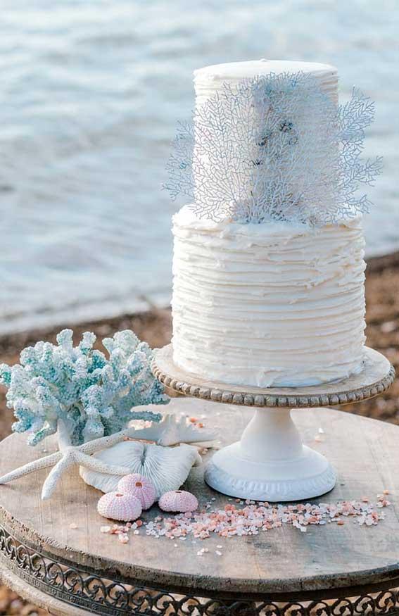 beach wedding cake, wedding cake, wedding cake trends, beach wedding cake ideas #weddingcake #beachcake
