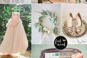mint blush peach vintage wedding palette