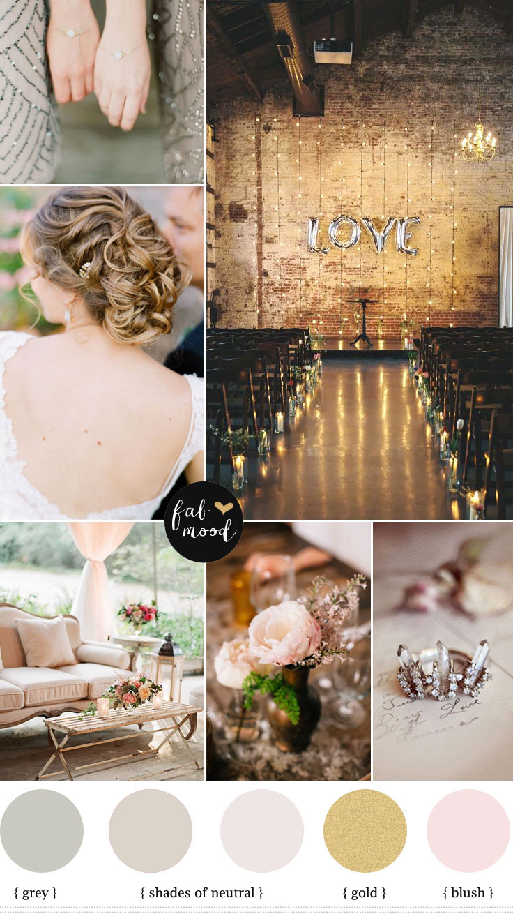 Autumn Vintage Wedding Neutral Wedding Color Palette