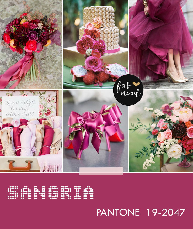 wedding colors,wedding palette,pantone fall 2014 wedding colors,sangria wedding color,autumn wedding colors,autumn wedding colors 2014,wedding colors 2014,aurora red,sangria,misted yellow,aluminum,cognac,radiant orchid,mauve