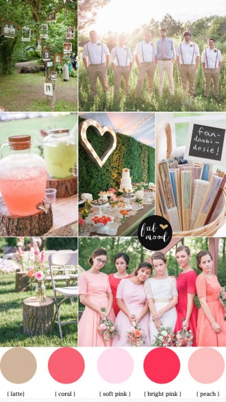 Rustic Vintage Wedding ideas - coral peach and pink vintage wedidng,vintage rustic wedding,coral peach pink rustic wedding,coral rustic bridesmaids dresses
