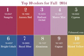 Top 10 Colors for Fall 2014