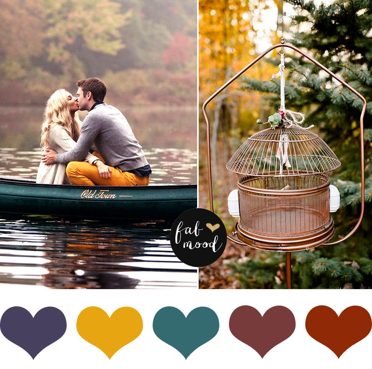 Autumn Wedding Colour Palette