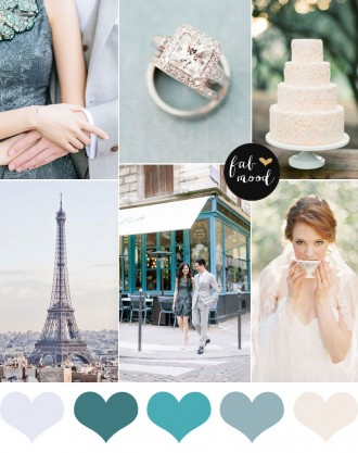 Shades of green wedding palette