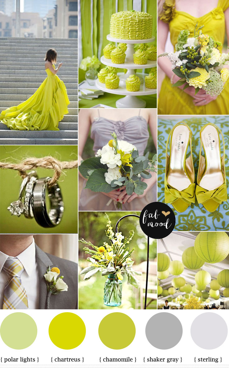 Modern Wedding Chartreuse Color Palettewedding Dress ChartreusModern Palette