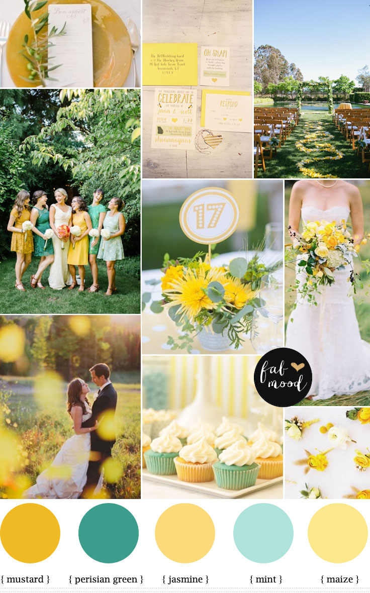 Mint Mustard Color Palette For Late Summer Wedding To AutumnAutumn Inspirationsperisian