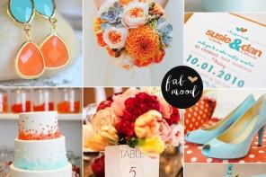 Turquoise and orange beach wedding { Teal +orange+turquoise }