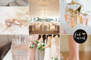 Rose blush gold wedding theme