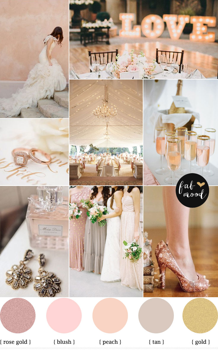 Rose blush gold wedding theme,Wedding Color Palette