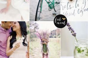 Lavender and twilight wedding