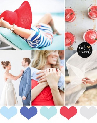 Red and Blue Engagement Color Palette - Red engagement color palette,summer engagement color palette,red blue color palette,color palette inspiration,color palette,red wedding palette,red color