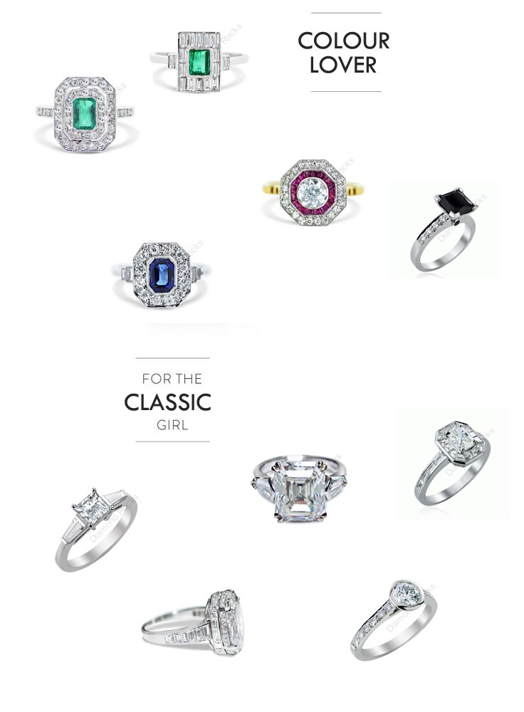 engagement rings from diamond rocks