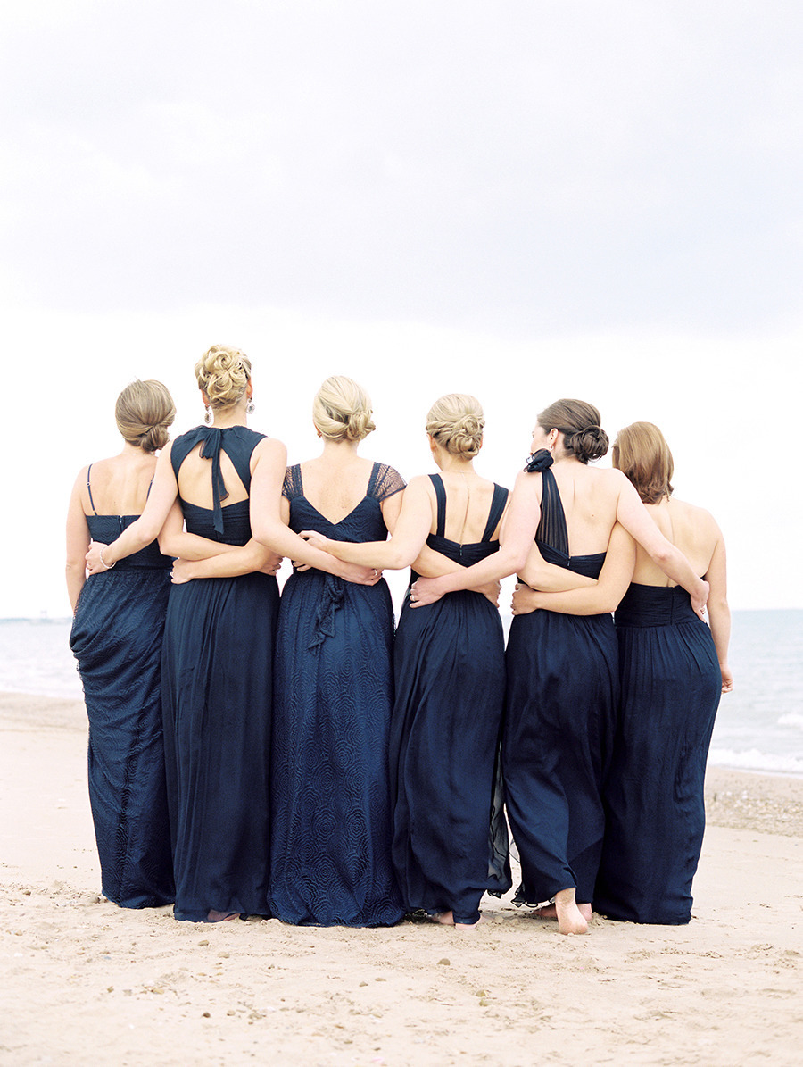 Navy blue and pink beach wedding for Navy blue and pink wedding