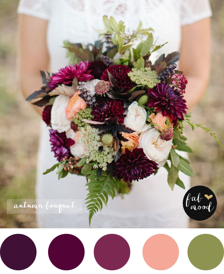 Magnificent Autumn Wedding Bouquet Bridal Bouquet