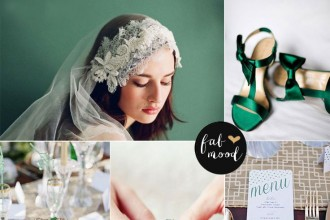 emerald and gold wedding colour palette