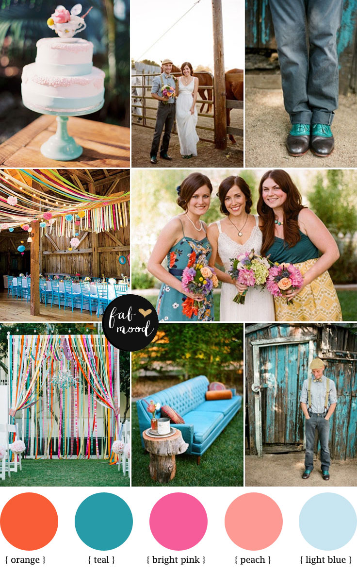 Rustic Teal Wedding Teal Wedding Color Color Combos Schemes