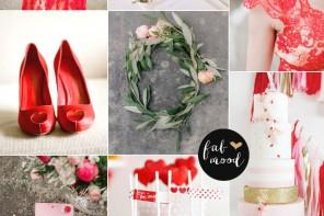 Aurora Red Autumn wedding color