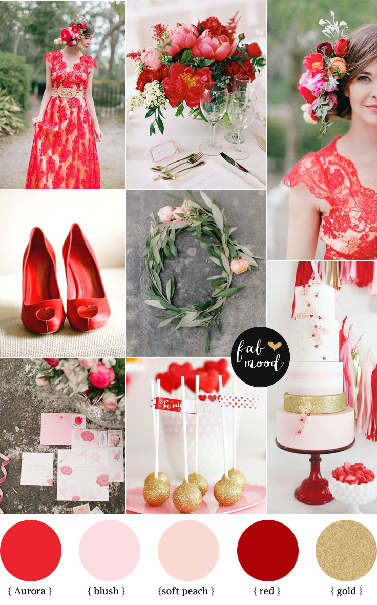 Aurora Red Autumn wedding color For Chinese Wedding