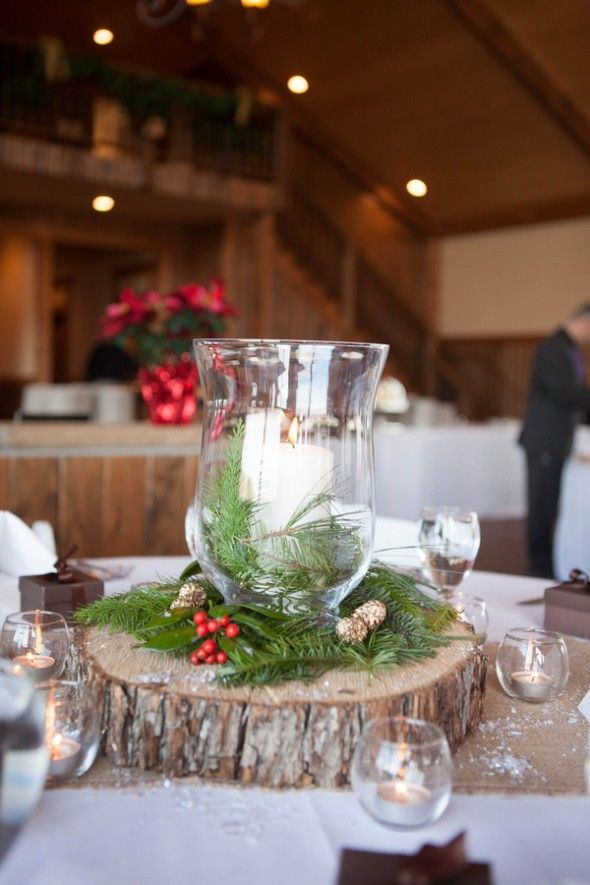 rustic winter wedding centerpieces rusticweddingchic
