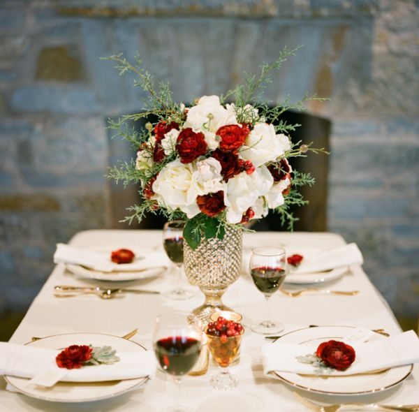 winter wedding tablescape ideas