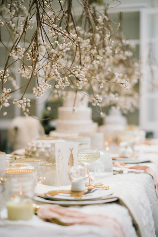 Winter wedding decoration