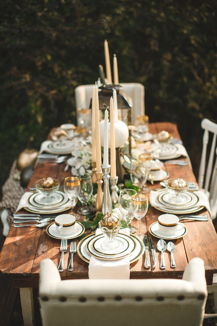 Autumn wedding table d cor ideas fall wedding table ideas for Pictures of fall table decorations