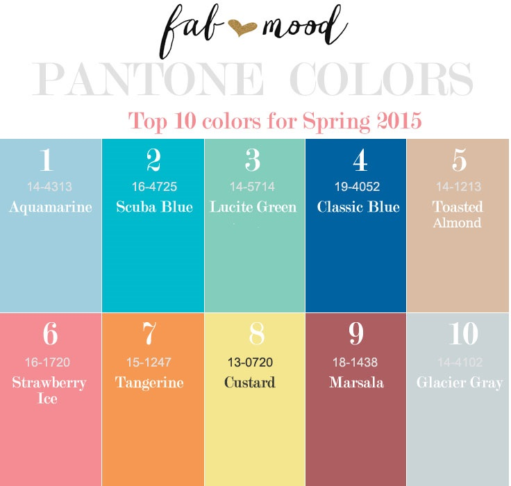 top 10 pantone colors for spring 2015