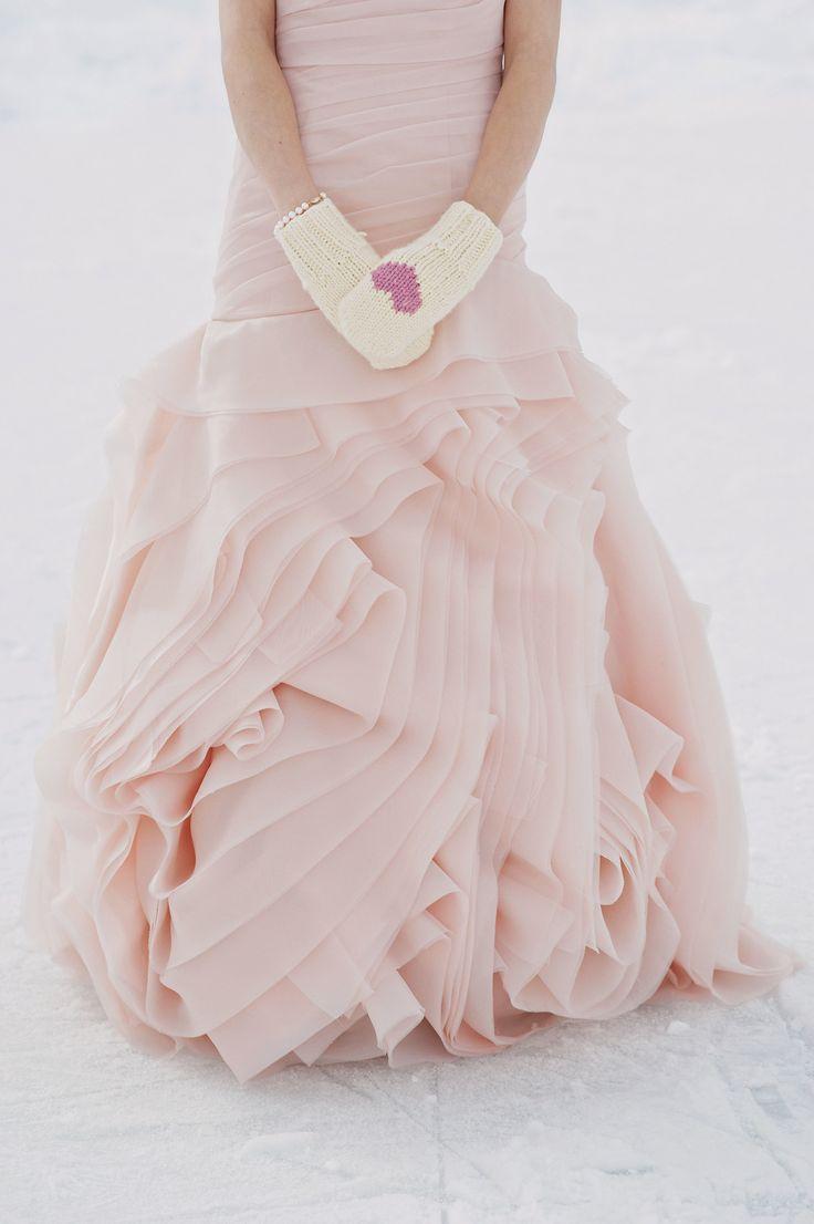 cute mitten for bride