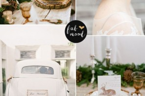 Read more fabmood.com | Neutral Winter Wedding Palette