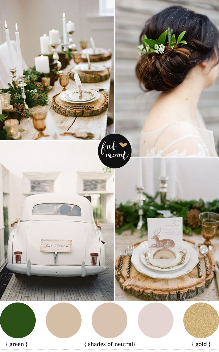 Neutral winter wedding palette for Winter wedding color palettes