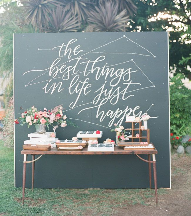 Diy Giant Chalkboard Backdrop Lemon Thistle Source Calligraphy Wedding Ideas