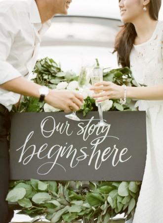 wedding chalkboard calligraphy