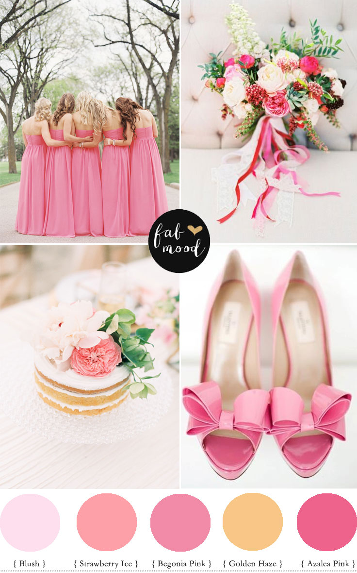 Strawberry Ice Pantone Spring 2015 wedding palette - Pink Colour Palette   fabmood.com