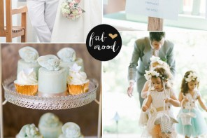fabmood.com | Pastel wedding Colors palette { Mint, Lucite green and gold }