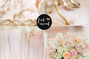 Rose Gold , Blush and Gold Colour Palette